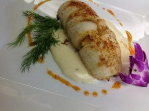 Flounder Stuffed with Lump Crab