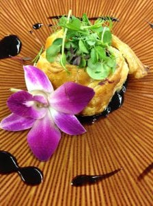 Mushroom and Goat Cheese Pastry Pinwheel