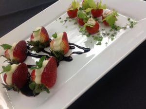 Strawberry Boats and BLT Amuse Boche- Catering Frederick MD