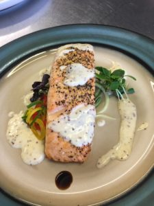 Salmon with Grain Mustard Cream